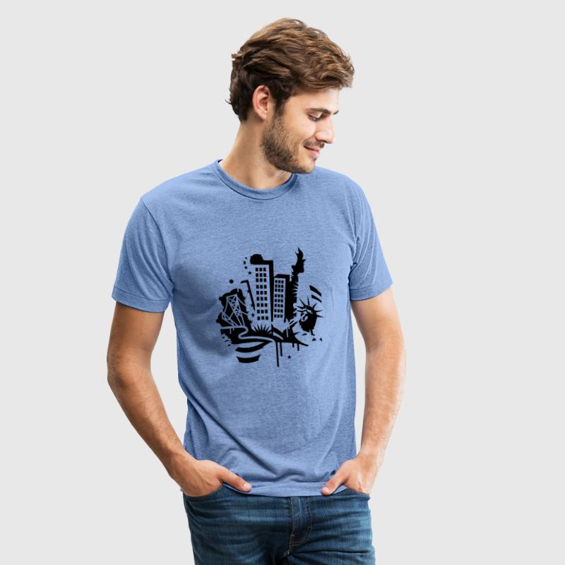 A New York City Design   in graffiti style - Unisex Tri-Blend T-Shirt