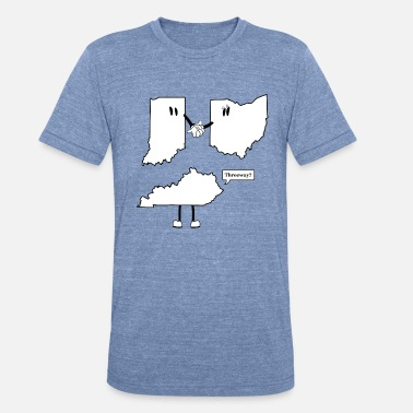 Old School Cincinnati Tri-State 3-Way - Unisex Tri-Blend T-Shirt