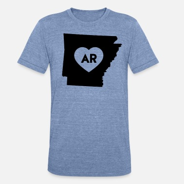 Made In Arkansas Usa I Love Arkansas State - Unisex Tri-Blend T-Shirt