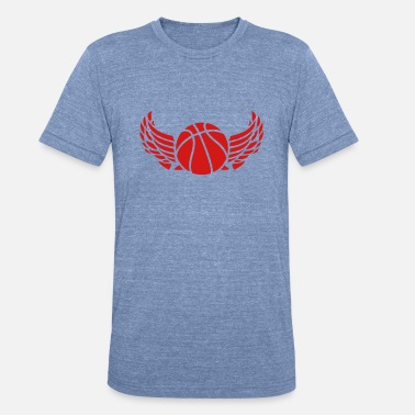 Wings Basketball 1007 ball basketball wing - Unisex Tri-Blend T-Shirt