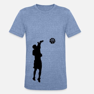 Jump Shot JUMP SHOT BASKETBALL  - Unisex Tri-Blend T-Shirt