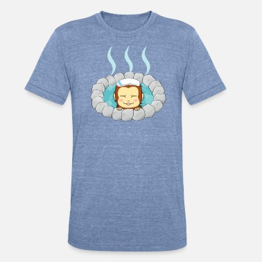 Hot Spring Monkey - Unisex Tri-Blend T-Shirt