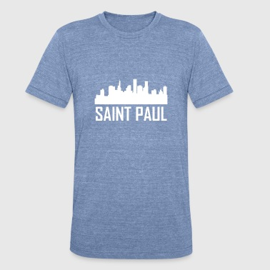 Saint Paul Minnesota City Skyline - Unisex Tri-Blend T-Shirt