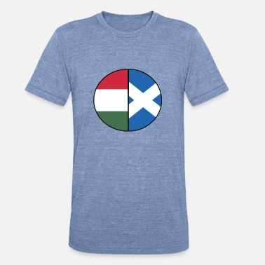 Dual Flags Scottish Hungarian Flag Dual Citizenship DNA Pride - Unisex Tri-Blend T-Shirt
