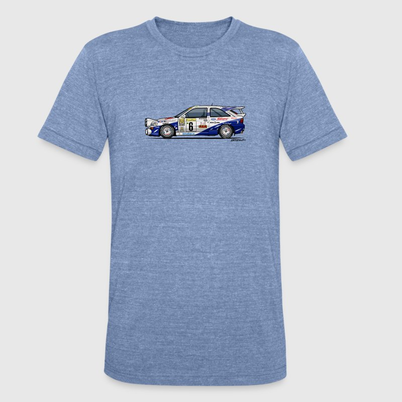 Ford Escort RS Cosworth Rally Monte Carlo - Unisex Tri-Blend T-Shirt