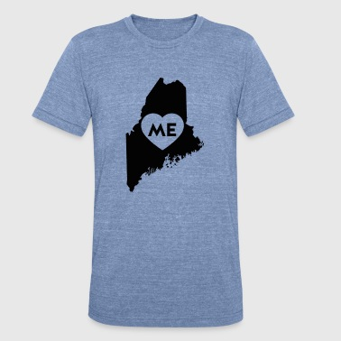 I Love Maine State - Unisex Tri-Blend T-Shirt