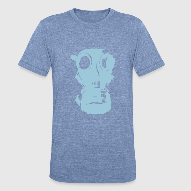 gas mask, skull, skull, respiratory protection,  - Unisex Tri-Blend T-Shirt