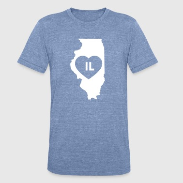 Illinois Prairie State I Love Illinois State - Unisex Tri-Blend T-Shirt