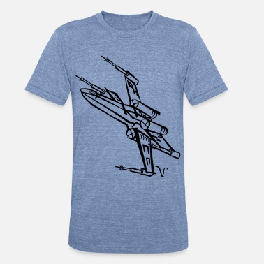 X Wing X-Wing Fighter [Artist Rendering 3] Women's Zip Ho - Unisex Tri-Blend T-Shirt