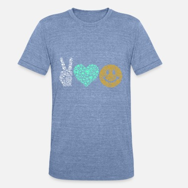 Peace Love Happiness Peace Love Happiness - Unisex Tri-Blend T-Shirt