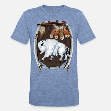 Jungle White Buffalo Shield - Unisex Tri-Blend T-Shirt