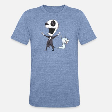 Jack Skellington Invader Jack! - Unisex Tri-Blend T-Shirt