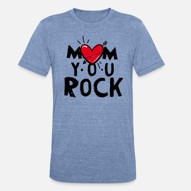 Rock N Roll Mom Mom Rocks - Unisex Tri-Blend T-Shirt