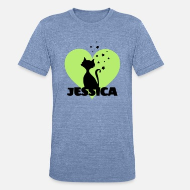 Jessica Jessica first name - Unisex Tri-Blend T-Shirt