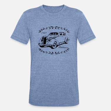 1937 Vintage car and cool! - Unisex Tri-Blend T-Shirt