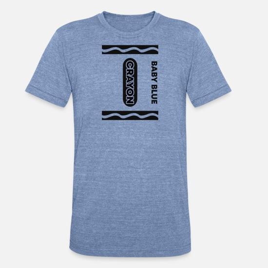 c0a7e803 Friends T-Shirts - Baby Blue Crayon Halloween Couple Friend Group - Unisex  Tri-
