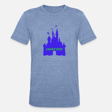 Castle Earsfirst shirt 2 blue castle - Unisex Tri-Blend T-Shirt