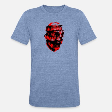 Dissection Scary Head Zombie red - Unisex Tri-Blend T-Shirt