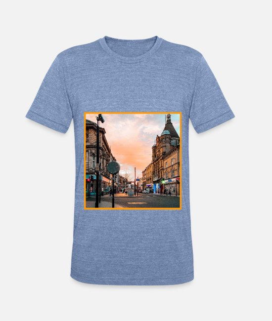 Sunset T-Shirts - Outback - Unisex Tri-Blend T-Shirt heather Blue