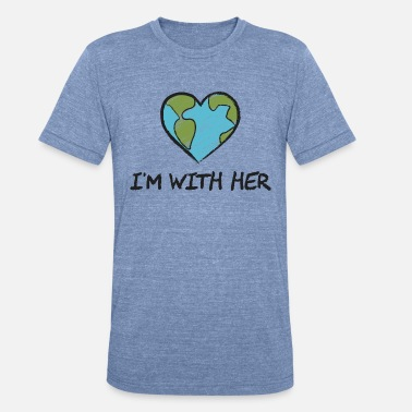Planet I'm With Her Gift - Unisex Tri-Blend T-Shirt
