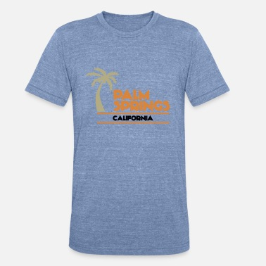 Springs The Palm Springs Short Sleeve White - Unisex Tri-Blend T-Shirt