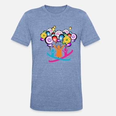 Fun Fair Fair-Ballons - Unisex Tri-Blend T-Shirt