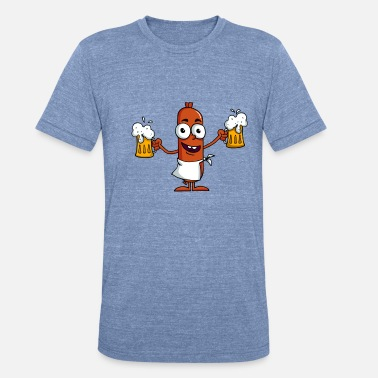 Saturday Sosis beer - Unisex Tri-Blend T-Shirt