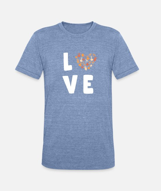 Witchcraft T-Shirts - Love Pottery Shirt Heart Gift Women Clay Ceramic - Unisex Tri-Blend T-Shirt heather Blue