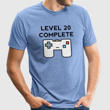 Level 20 Complete 20th Birthday - Unisex Tri-Blend T-Shirt