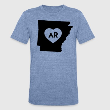 I Love Arkansas State - Unisex Tri-Blend T-Shirt