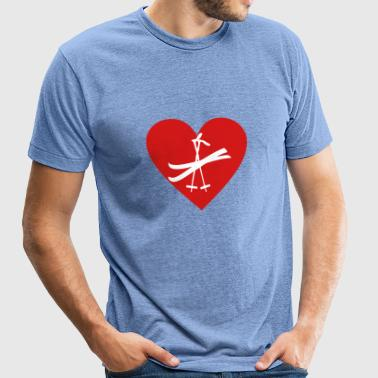 ski - Unisex Tri-Blend T-Shirt by American Apparel