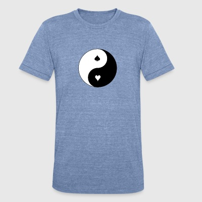 yin-and-yang - Unisex Tri-Blend T-Shirt by American Apparel