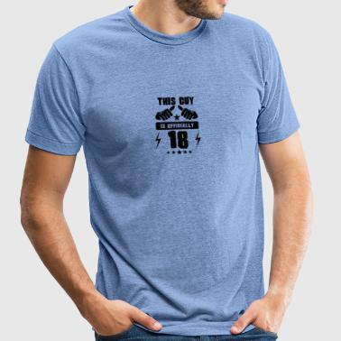 This Guy Is Officially 18 - Unisex Tri-Blend T-Shirt by American Apparel