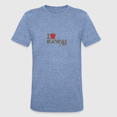I love Kawai Girls - Unisex Tri-Blend T-Shirt by American Apparel