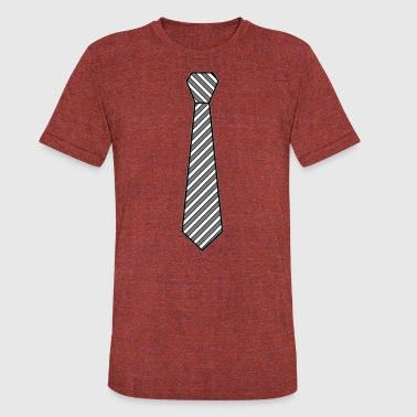 Formal Wear Tie Shirt - Unisex Tri-Blend T-Shirt