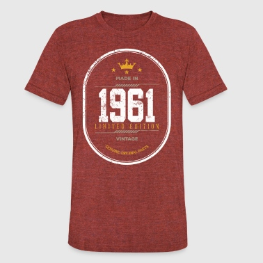 Made In 1961 Limited Edition Vintage - Unisex Tri-Blend T-Shirt