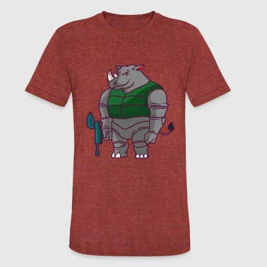 Paintball Dad Paintball Paintball Rhino - Unisex Tri-Blend T-Shirt