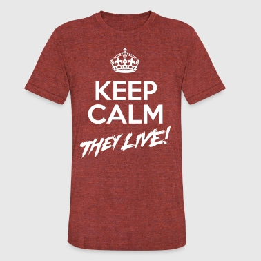 Keep Calm They Live (AA Distressed Shirt) - Unisex Tri-Blend T-Shirt