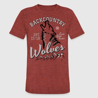 Backcountry Wolves - Unisex Tri-Blend T-Shirt