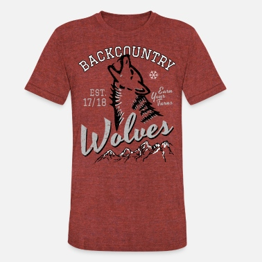 Skitour Backcountry Wolves - Unisex Tri-Blend T-Shirt