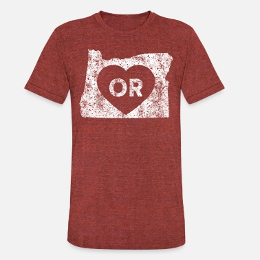 State Of Oregon Used I Love Oregon State - Unisex Tri-Blend T-Shirt