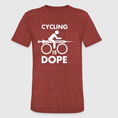 Funny Cartoon Cycling Cycling Is Dope Funny T shirt - Unisex Tri-Blend T-Shirt