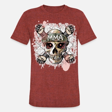 MMA Skull Cross Fists - Unisex Tri-Blend T-Shirt
