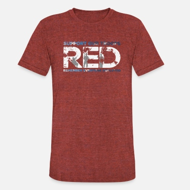 Red Fridays RED - Support Our Troops - Unisex Tri-Blend T-Shirt