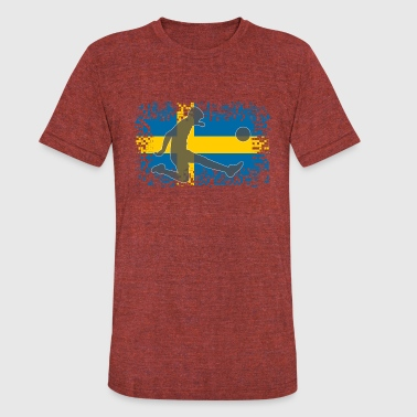 Tre Kronor Sweden Football Soccer - Unisex Tri-Blend T-Shirt