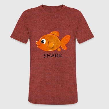 Wrong Goldfish Shark - Unisex Tri-Blend T-Shirt