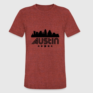 Retro Austin Skyline - Unisex Tri-Blend T-Shirt