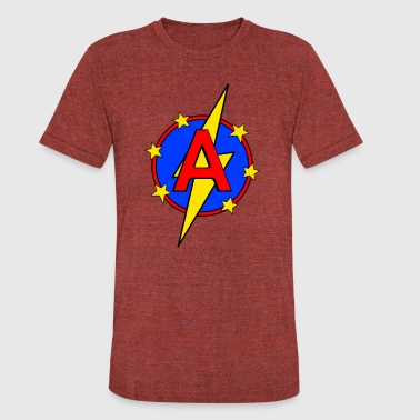 My Little Super Hero Kids & Baby Letter A - Unisex Tri-Blend T-Shirt