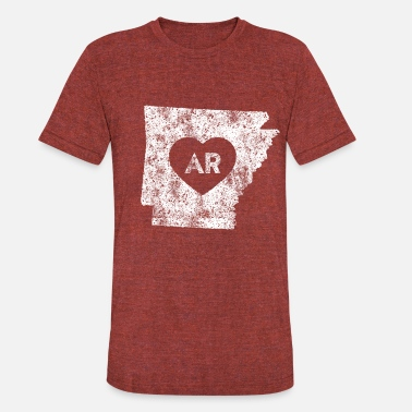 Made In Arkansas Usa Used I Love Arkansas - Unisex Tri-Blend T-Shirt