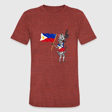 Gift For Filipino A Filipino Zebra - Unisex Tri-Blend T-Shirt